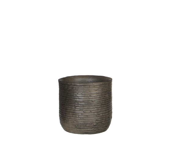 Sila pot round d. brown - h19xd20cm