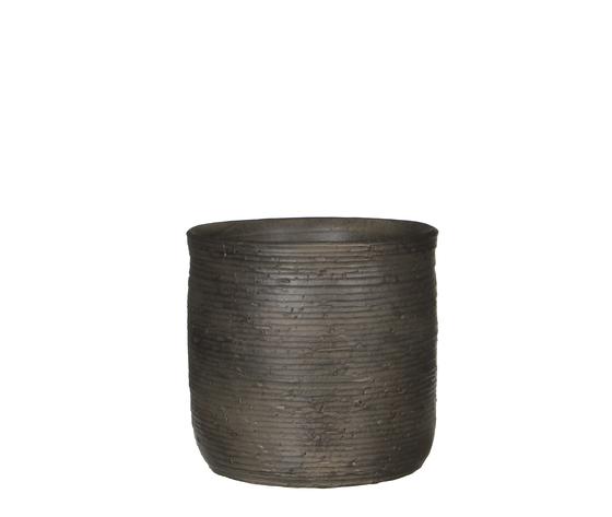Sila pot round d. brown - h24xd26cm