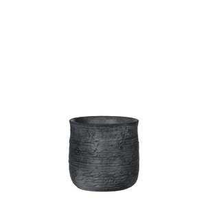 Sila pot round d. grey - h15xd16cm