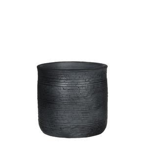 Sila pot round d. grey - h24xd26cm