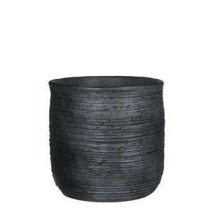 Sila pot round d. grey - h29xd30cm