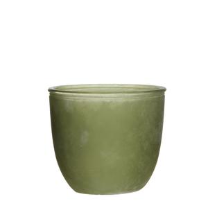 Linde pot green - h13xd15cm