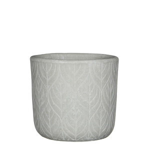 Philo pot round off white - h17xd18,5cm