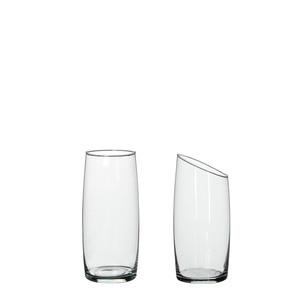 Macy cylinder glass transparent 2 assorted - h19xd9,5cm