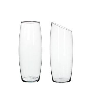 Macy cylinder glass transparent 2 assorted - h33xd13cm