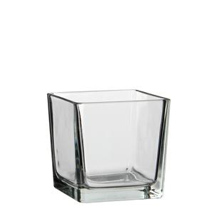 Lotty vase square glass transparent - l12xb12xh12cm