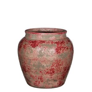 Lucan pot round bordeaux - h22xd23cm
