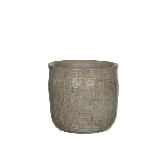Destiny pot round beige - h19xd20cm