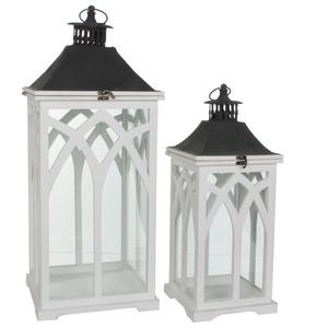 lantern white - l30xw30xh72cm
