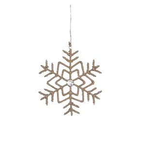 ornament snowflake beige - l15xw15xh0,5cm