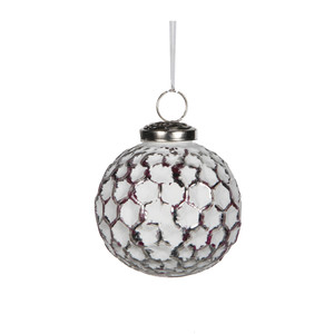 ornament ball white - d7,5cm
