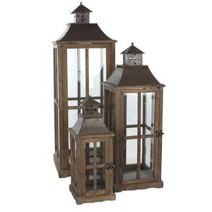 lantern l21w21h55 brown