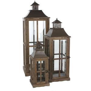 lantern l29w29h85 brown