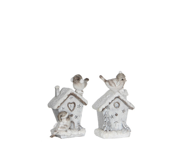 ornament aviary grey 2 assorted - l8xw5,5xh12cm