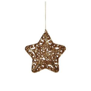 ornament star gold - d11,5cm