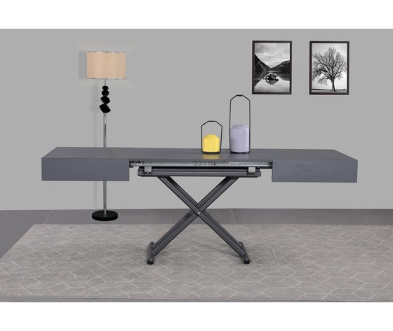 Tavolo trasformabile grigio4