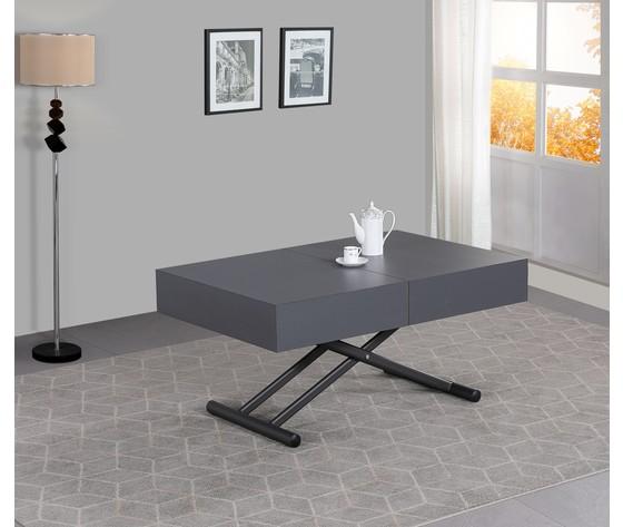 Tavolo trasformabile grigio 1