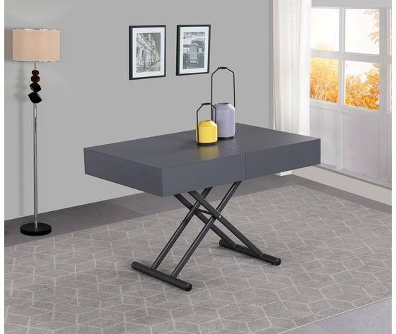 Tavolo trasformabile grigio 2