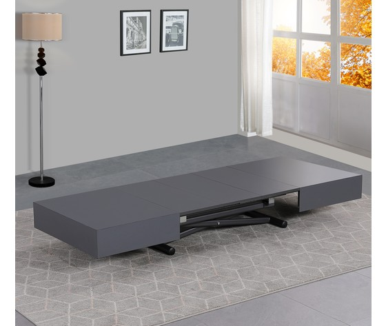 Tavolo trasformabile grigio 5