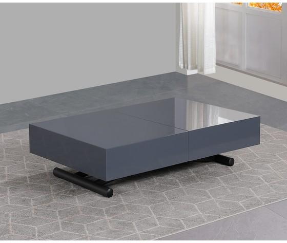 Tavolo trasformabile grigio laccato4