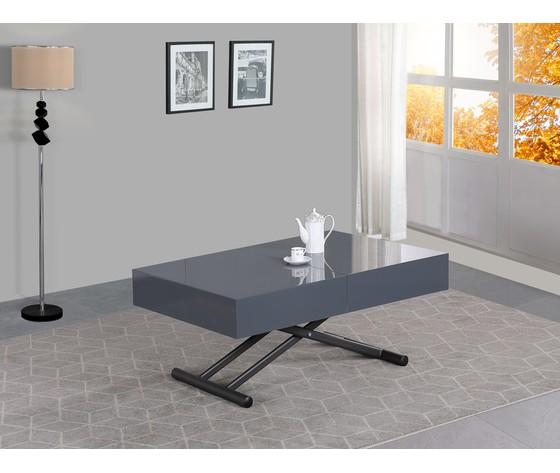 Tavolo trasformabile grigio laccato 1