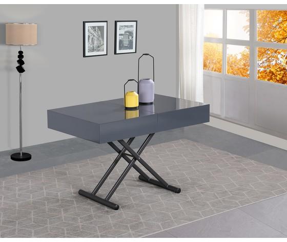 Tavolo trasformabile grigio laccato 2