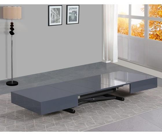 Tavolo trasformabile grigio laccato 5