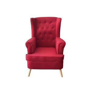 Poltrona Design Retrò - Velluto Rosso - Artemide