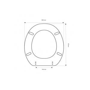 Sedile Wc Copriwater per modello Duna marca Artigianato Ceramico