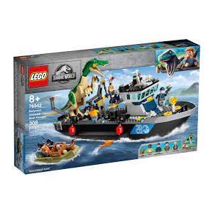 LEGO JURASSIC WORLD 76942 FUGA  SULLA BARCA DEL DINOSAURO