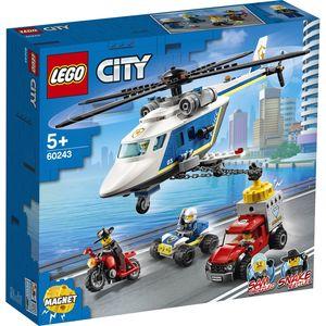 LEGO CITY 60243  INSEGUIMENTO SULL'ELICOTTERO DELLA POLIZIA