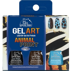 IBD GEL POLISH ANIMAL PRINT SET  3x 7,4ml