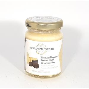 crema di pecorino romano DOP e tartufo nero