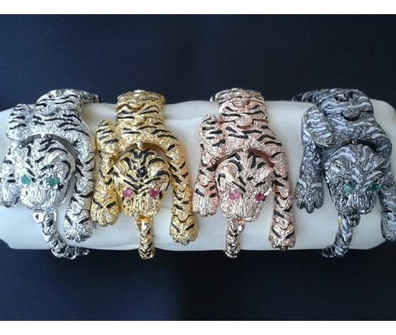 001  2 bracciale tigre occhi smeraldo