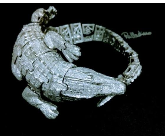 002 bracciale coccodrillo  snodato