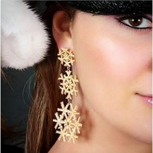 Three Snowflakes Earring