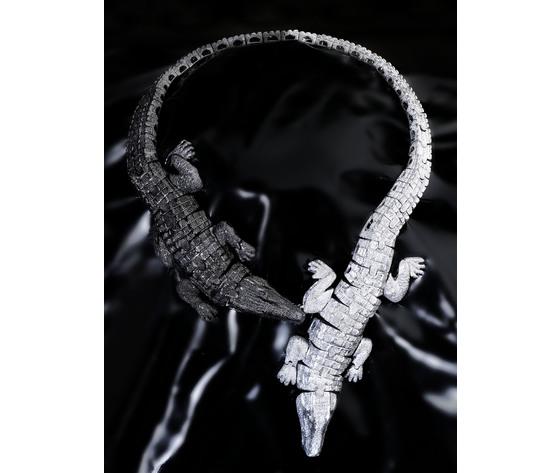 004paco2co collier doppio coccodrilli