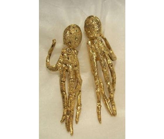 004 orecchini polpo snodato oro