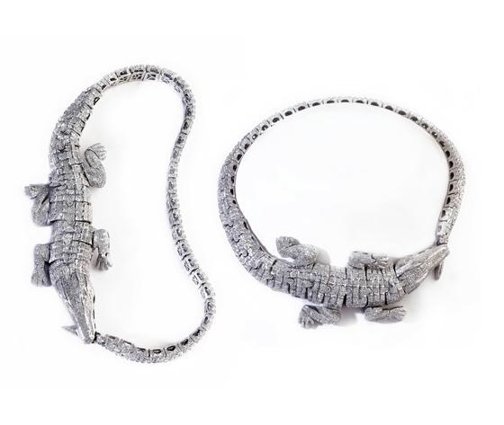003pacocosa collier croccodilo