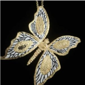 Pendente farfalla grande con smalto