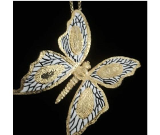 059 pendente  farfalla grande con smalto g