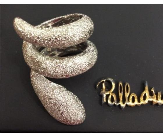 020 anello serpente puntinato oro bianco