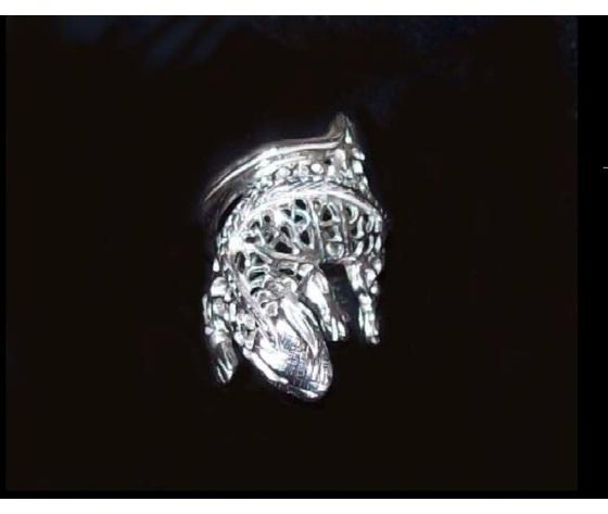 024 anello iguana traforato