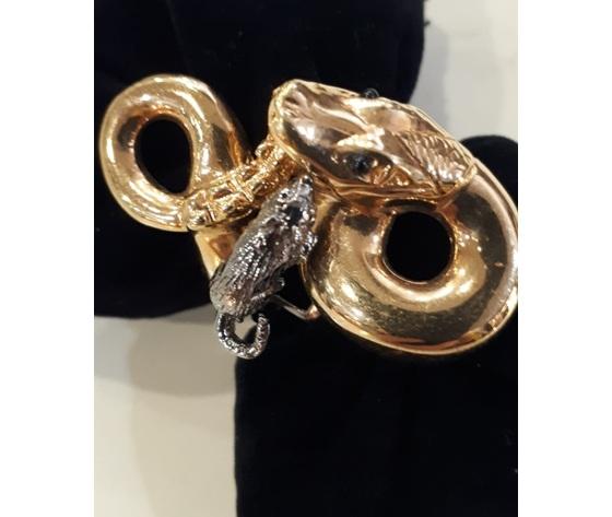 026 anello serpente con topo