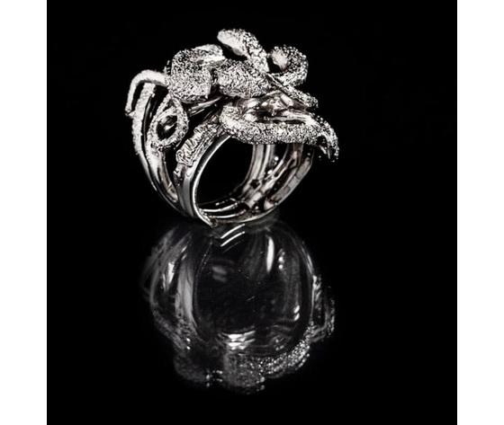 041 anello quattro serpenti intrecciati