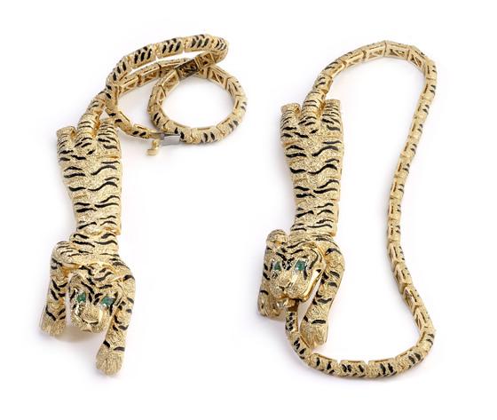 001 1 collier tigre smalto
