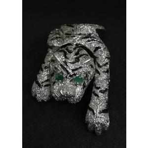 Collier Tigre Smalto e Occhi Smeraldo
