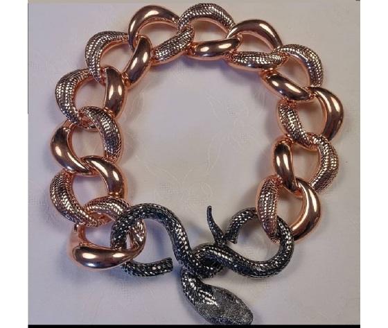 012 collier serpente macr%c3%b2 oro rosa