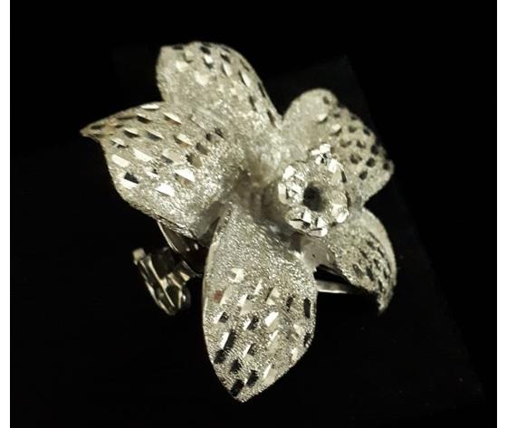 036 anello fiore giglio smaltata