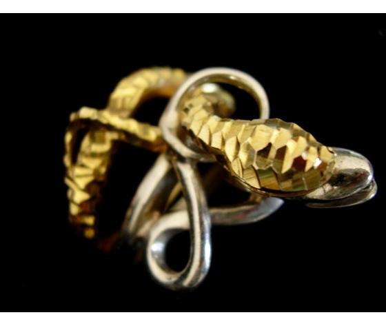 004 anello due serpenti grandi